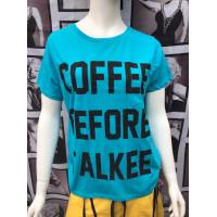 Бирюзовая футболка Coffee